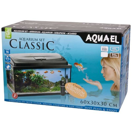Aquael Aquarium CLASSIC 60er Set gewölbt/oval schwarz