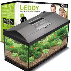 Aquael Aquarium Set LEDDY LED 60, 54 Liter komplett Aquarium mit moderner LED Technik